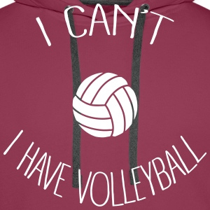 I can't I have Volleyball Sweat-shirts - Sweat-shirt à capuche Premium pour hommes