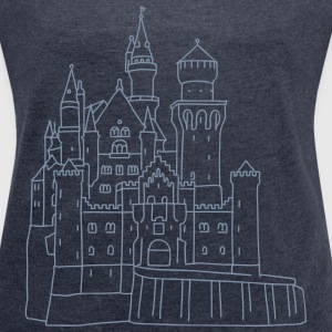 Neuschwanstein Castle T-Shirts - Women's T-shirt with rolled up sleeves