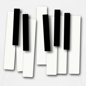 Piano Keys - T-shirt herr