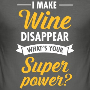 I Make WIne Disappear... T-skjorter - Slim Fit T-skjorte for menn