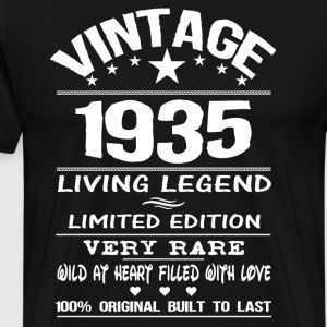 VINTAGE 1935-LIVING LEGEND T-Shirts - Men's Premium T-Shirt