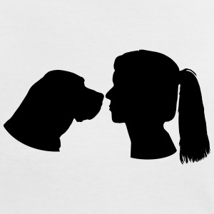 Dog and Woman T-Shirts - Frauen Kontrast-T-Shirt