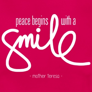 Peace begins with a smile (dark) Camisetas - Camiseta mujer