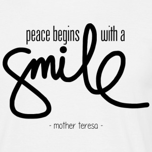 Peace begins with a smile T-shirts - T-shirt herr