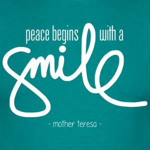 Peace begins with a smile (dark) T-shirts - Mannen T-shirt