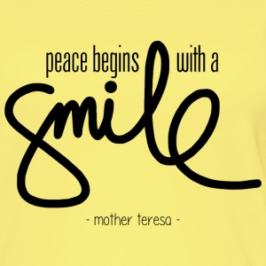 Peace begins with a smile Top - Top da donna ecologico
