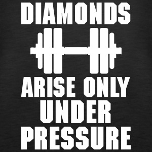 Diamonds arise only unter pressure Topy - Tank top damski Premium