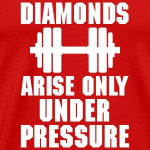 Diamonds arise only unter pressure Tee shirts - T-shirt Premium Homme