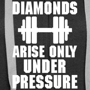 Diamonds arise only unter pressure Pullover & Hoodies - Frauen Premium Kapuzenjacke