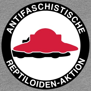Antifaschistische Reptiloiden-Aktion T-Shirts - Frauen Premium T-Shirt