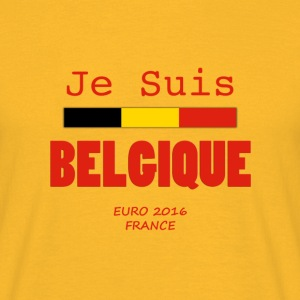 JE SUIS BELGIQUE - EURO 2016 FRANCE - Red - Camiseta hombre