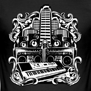 Play Music Shirt | Musiker | Bass | Hip Hop | Trap T-Shirts - Männer Slim Fit T-Shirt