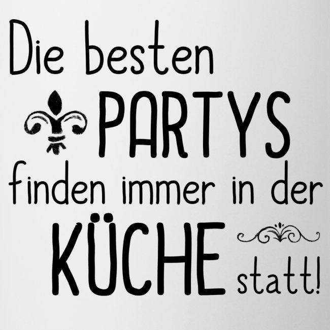 Shabbyflair | Tasse mit lustigem Spruch PARTY IN DER KÜCHE - Tasse ...