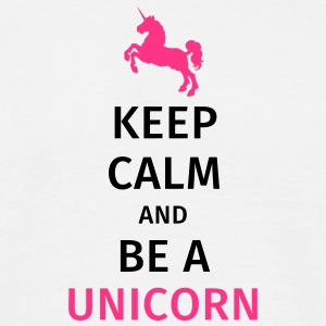 keep calm and be a unicorn T-skjorter - T-skjorte for menn