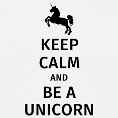keep calm and be a unicorn Camisetas