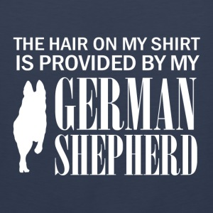 The hair on my shirt is provided by my German Shep - Men's Premium Tank Top