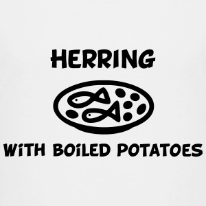 Herring with boiled potatoes Shirts - Teenage Premium T-Shirt