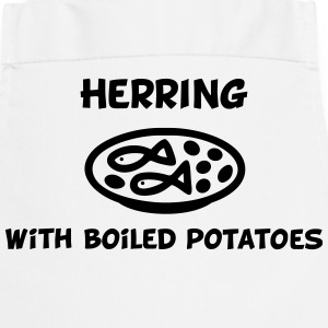 Herring with boiled potatoes  Aprons - Cooking Apron