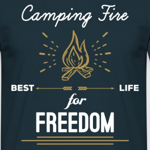 Camping Fire - Best Life For Freedom T-Shirts - Men's T-Shirt