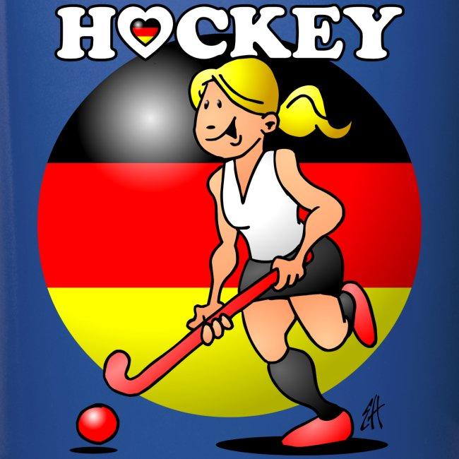 Hockey dam av det tyska landslaget. Muggar & tillbehör