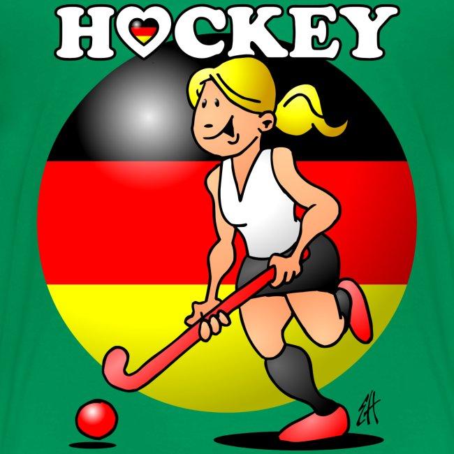 Hockey dam av det tyska landslaget. T-shirts