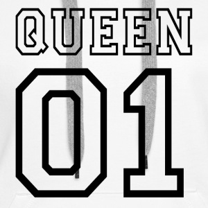 quePARTNERSHIRT - Queen 01 Gensere - Premium hettegenser for kvinner