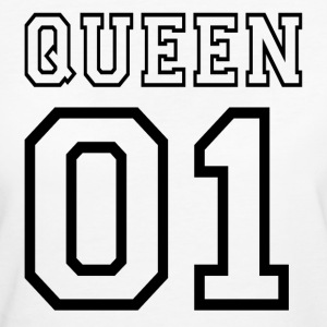 quePARTNERSHIRT - Queen 01 T-shirts - Vrouwen Bio-T-shirt