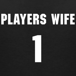 Players Wife Camisetas - Camiseta con escote en pico mujer