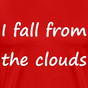 Denglisch - I fall from the clouds - Männer Premium T-Shirt