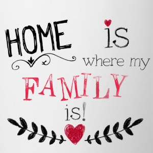 331 Home is where my Family is! Tassen & Zubehör - Tasse zweifarbig