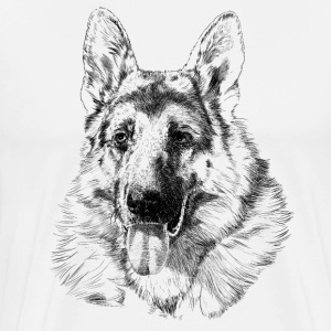 German shepherd T-shirts - Herre premium T-shirt