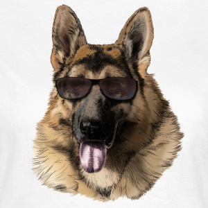German shepherd T-shirts - Dame-T-shirt