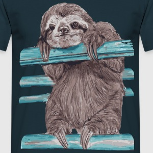 Navy Hey mr sloth T-Shirts - Männer T-Shirt