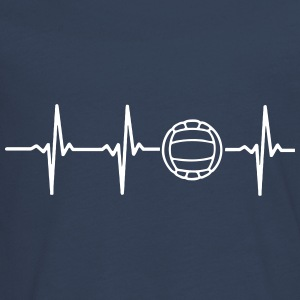 My heart beats for volleyball! Long Sleeve Shirts - Teenagers' Premium Longsleeve Shirt