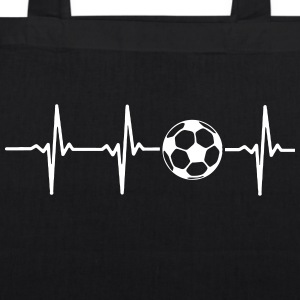 My heart beats for football Bags & Backpacks - EarthPositive Tote Bag