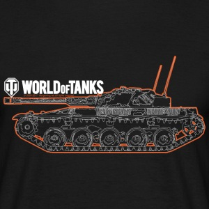 World of Tanks - Orange Outline Tank - Men's T-Shirt