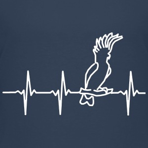 My heart beats for parrots Shirts - Teenage Premium T-Shirt