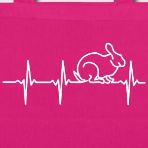My heart beats for rabbits Bags & Backpacks - EarthPositive Tote Bag