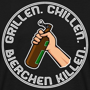 Grillen, Chillen, Bierchen killen. White - Männer T-Shirt