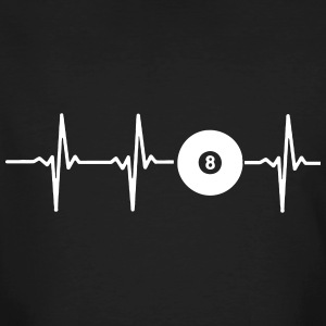 My heart beats for billiards T-Shirts - Men's Organic T-shirt