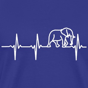 MY HEART BEATS FOR ELEPHANTS! T-Shirts - Men's Premium T-Shirt