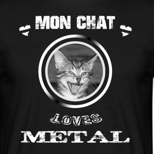 MON CHAT ÉCOUTE DU METAL