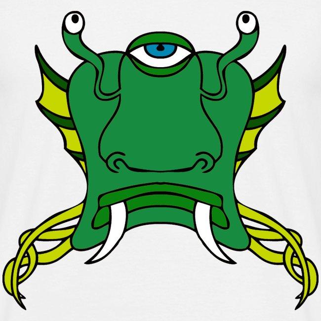 Tête d'alien verte