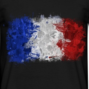 Drapeau français Graffiti - Men's T-Shirt