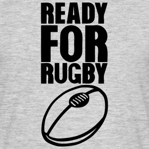 ready for rugby ball bereit fuer die rug T-Shirts - Männer T-Shirt