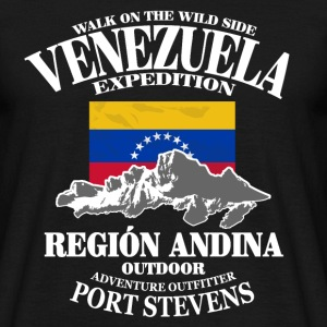 Venezuela - Flag & Mountains T-Shirts - Männer T-Shirt