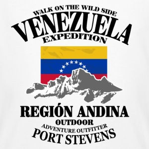 Venezuela - Flag & Mountains T-Shirts - Männer Bio-T-Shirt