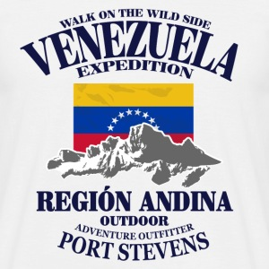 Venezuela - Flag & Mountains Tee shirts - T-shirt Homme