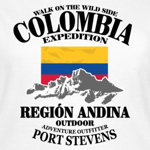 Columbia - Flag & Mountains Tee shirts - T-shirt Femme