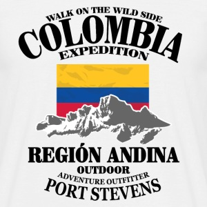 Columbia - Flag & Mountains Tee shirts - T-shirt Homme